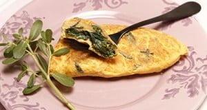 Omelete de beldroegas
