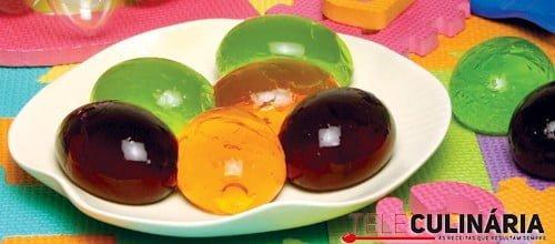 Ovinhos de gelatina