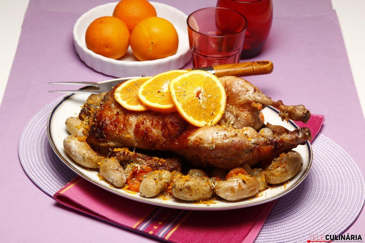 Pato com laranja