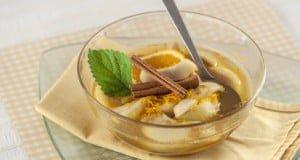 Peras douradas em mel