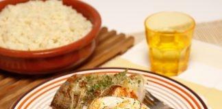 Pescada de cebolada com arroz de forno 2