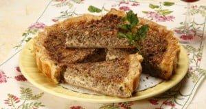 Picadinho de carne em tarte
