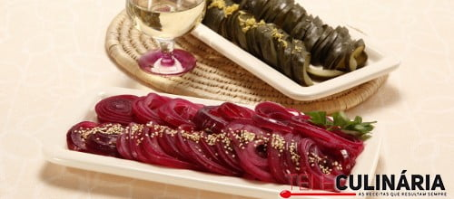 Pickles rapidos de pepino e cebola 5 D