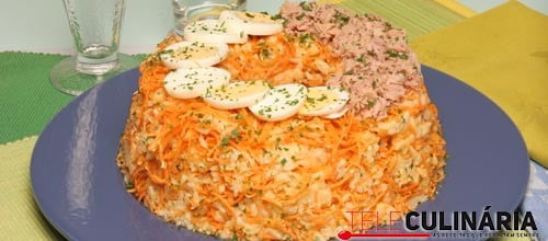 Pudim de arroz com atum