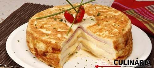 Pudim de pao com queijo e fiambre 9 DETAKHE