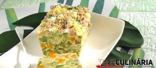 Pudim de salada russa 3 D