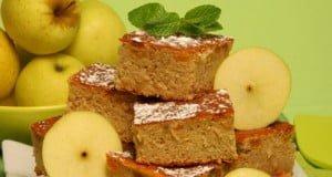 Quadradinhos de maçã com sultanas
