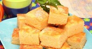 Quadrados de mel com farinha de arroz