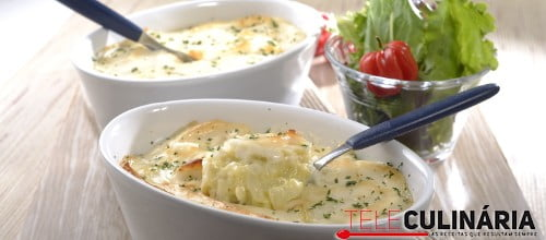 Red fish gratinado no forno