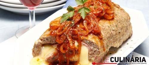 Rolo de carne com queijo e fiambre 1 DETALHE