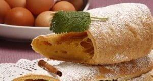 Rolo folhado com creme pasteleiro