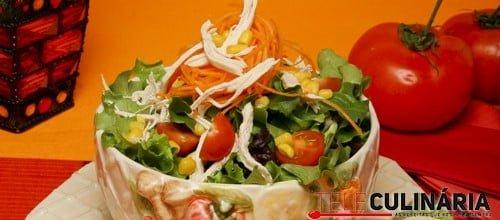 Salada de milho e frango