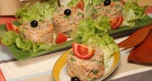 Salada de atum com batata palha