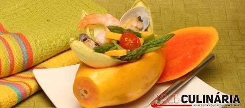 Salada rica de papaia