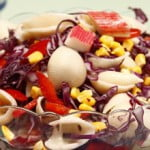 Salada de búzios com delícias do mar