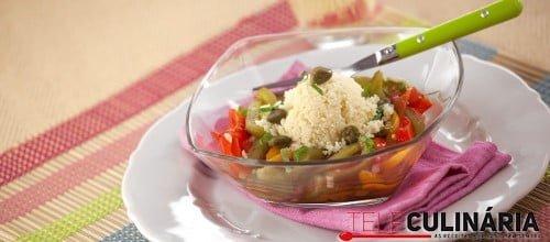 Salada de Pimentos com Cuscuz de Alcaparras e Manjericao TC 005 D