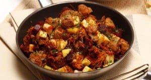 Salada de carne com beterraba