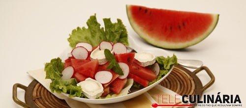 Salada de melancia com queijo de cabra 4 detalhe