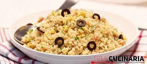 Salada de millet com Legumes e Azeitonas 2 Detalhe