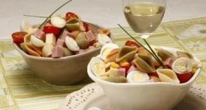 Salada de pasta primaveril