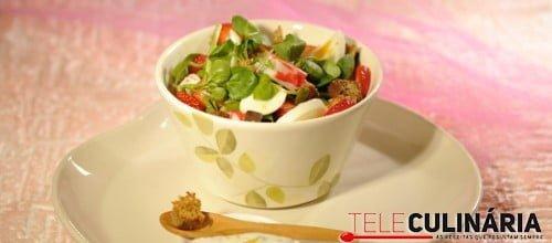 Salada fresca de agriao e delicias do mar 1 D