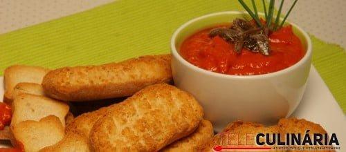 Pasta de sardella de pimentos e anchovas