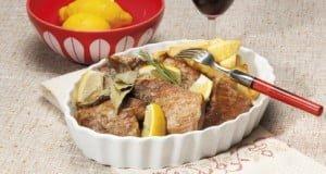Secretos de porco preto grelhados com limão