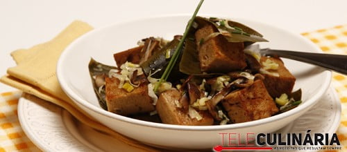 Seitan com Algas e Cogumelos 3 Detalhe