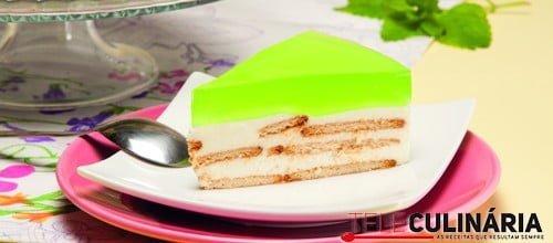 Semifrio de iogurte e gelatina