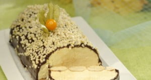 Semifrio de manga com cobertura crocante