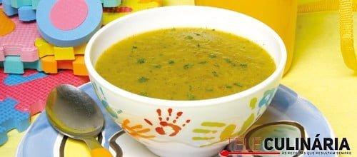 Sopa de lentilhas com agriões