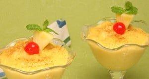 Taças de ananás deliciosas