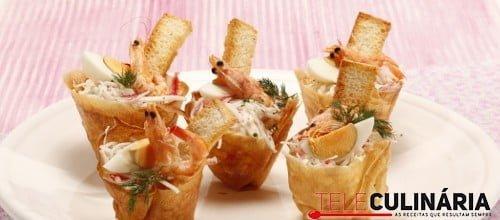 Tacinhas de delicias do mar com camaroes 1 D