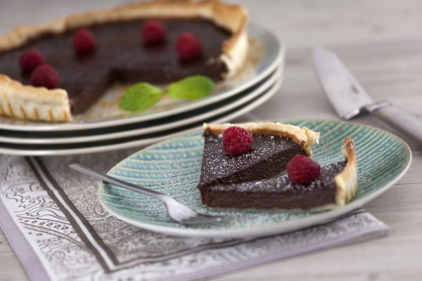 Tarte de Chocolate com Massa Quebrada