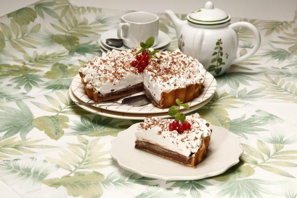 Tarte de chocolate com natas