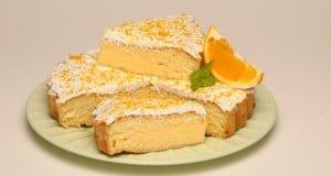 Tarte de coco com laranja