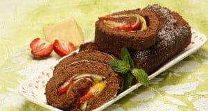 Torta de frutas laminadas