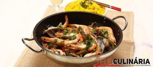 Wok paella de peixe e marisco 12 D