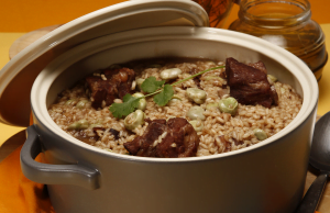arroz de entrecosto com favas