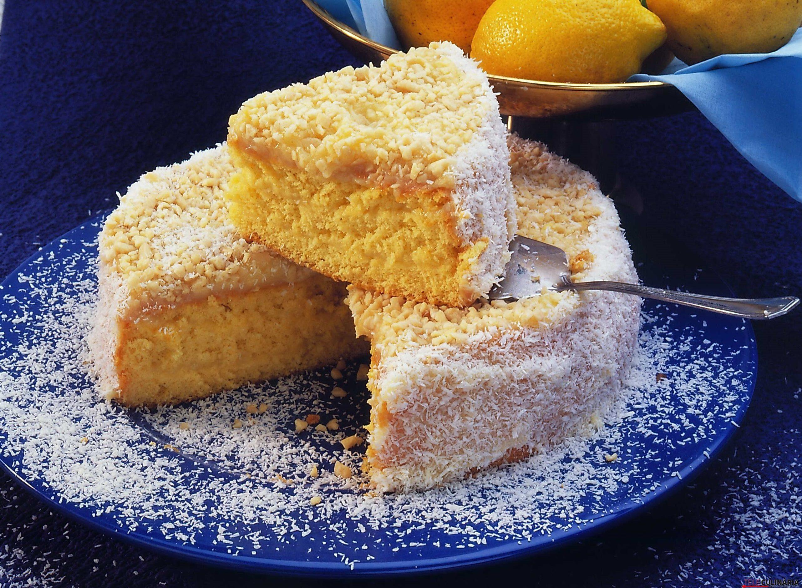 Receita de bolo de limão