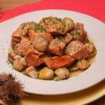 Carne de porco com castanhas