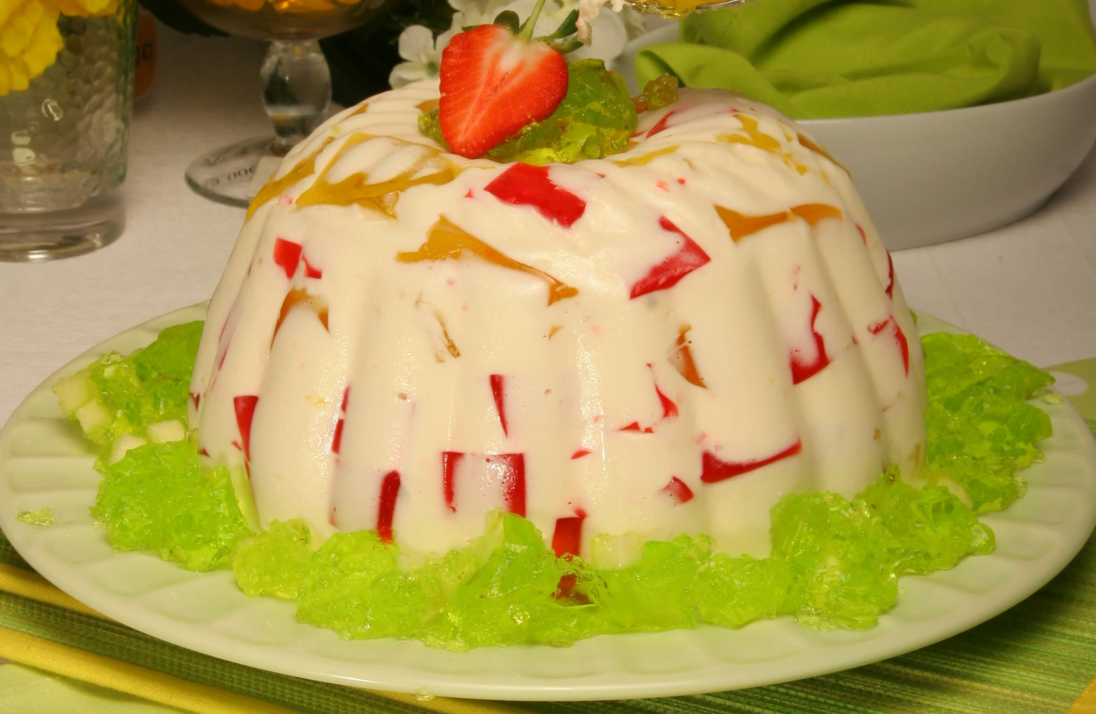 delícia fresca de gelatina