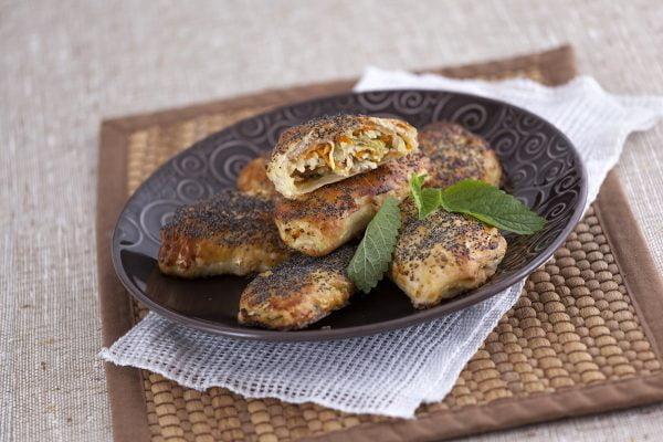 folhados de frango e legumes