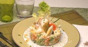 Maionese de bacalhau com pickles