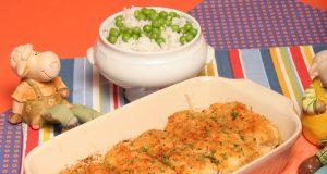 Filetes de pescada panados no forno