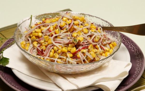 salada de delícias do mar