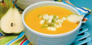 sopa fria de pera e cenoura