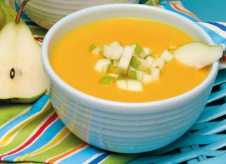sopa fria de pêra e cenoura