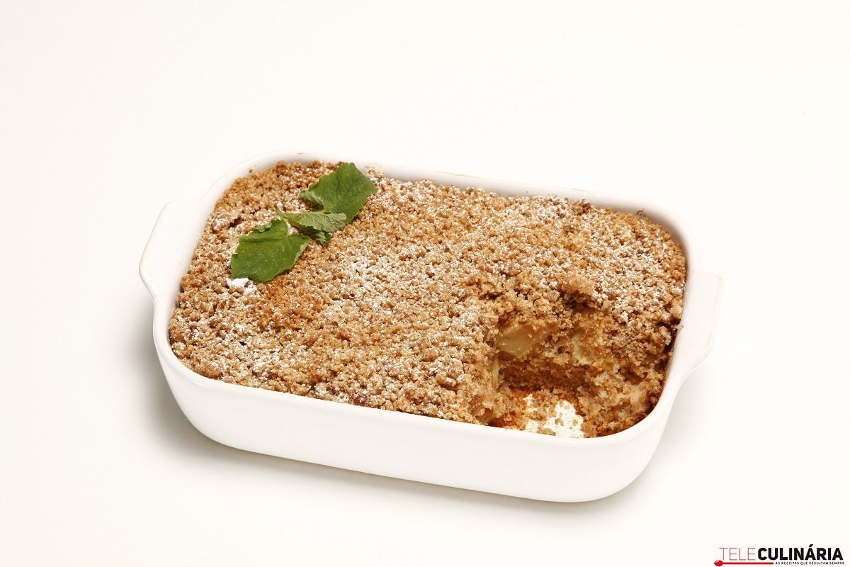 tarte crumble de maça