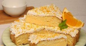 tarte de coco e laranja